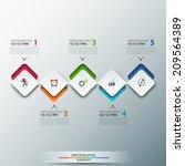 modern infographics process... | Shutterstock .eps vector #209564389