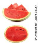 sliced ripe watermelon isolated ... | Shutterstock . vector #209565154