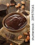 sweet dark chocolate sauce in a ... | Shutterstock . vector #209570161