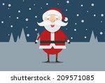cute santa claus vector | Shutterstock .eps vector #209571085