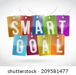 smart goal tags illustration... | Shutterstock . vector #209581477