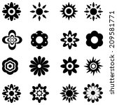 flower vector black and white... | Shutterstock .eps vector #209581771