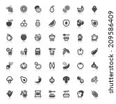 set of flat icons with... | Shutterstock .eps vector #209586409