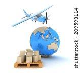 concept. shipping. transport. | Shutterstock . vector #209593114