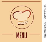 a chef hat and text as a menu... | Shutterstock .eps vector #209594041