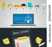 infographic for sale of real... | Shutterstock . vector #209604439