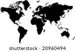 isolated black and white map of ... | Shutterstock . vector #20960494