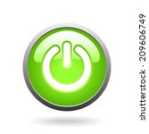 vector green glass button with... | Shutterstock .eps vector #209606749