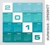 simple editable vector calendar ... | Shutterstock .eps vector #209608477
