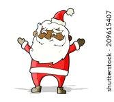 cartoon happy santa claus | Shutterstock . vector #209615407