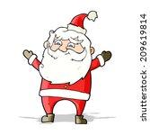 cartoon happy santa claus | Shutterstock . vector #209619814