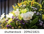 the altar of funeral | Shutterstock . vector #209621821