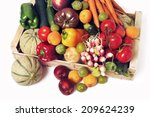 crates of fruit and vegetables... | Shutterstock . vector #209624239