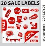20 sale labels set . vector... | Shutterstock .eps vector #209627605
