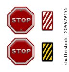 traffic sign stop  part of a... | Shutterstock . vector #209629195