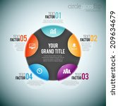 vector illustration of circle... | Shutterstock .eps vector #209634679