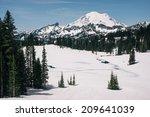 Mt. Rainier In The Snow