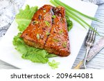 Grilled Salmon With Teriyak...