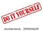do it yourself red stamp text... | Shutterstock .eps vector #209644639