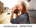 outdoor summer smiling... | Shutterstock . vector #209647441