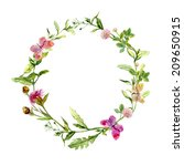 Wreath Border Frame With Summe...