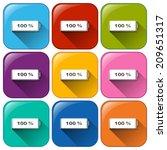 illustration of the battery... | Shutterstock .eps vector #209651317