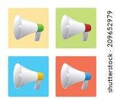 loud speaker | Shutterstock .eps vector #209652979