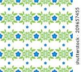 flower seamless pattern. vector ...   Shutterstock .eps vector #209657455