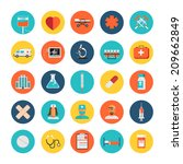 vector medical icons 25 set | Shutterstock .eps vector #209662849