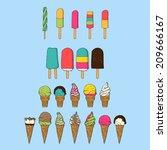 the creative design of ice...   Shutterstock .eps vector #209666167