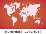 ebola world map illustration... | Shutterstock .eps vector #209675767