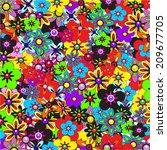 flower background. bright... | Shutterstock .eps vector #209677705