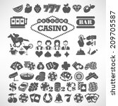 the biggest set of flat casino... | Shutterstock .eps vector #209705587