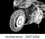 3d Bike Model. 3d Illustration...