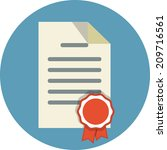 official document  | Shutterstock . vector #209716561