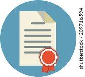 vector official document | Shutterstock .eps vector #209716594