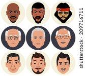 vector avatars   male faces