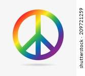 clean peace symbol icon in... | Shutterstock . vector #209721259