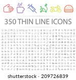 set of 350 minimal modern thin... | Shutterstock .eps vector #209726839