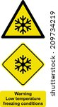 warning low temperature... | Shutterstock .eps vector #209734219