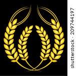 rice grain | Shutterstock .eps vector #209744197