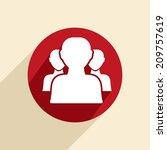 the silhouette of a men  social ... | Shutterstock .eps vector #209757619