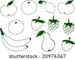 Grungy Fruits Ii   Vector.