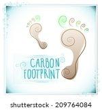 spiral footprint with text... | Shutterstock .eps vector #209764084