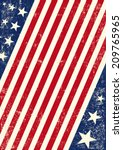 us american flag background. an ... | Shutterstock .eps vector #209765965