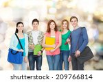 education and people concept  ... | Shutterstock . vector #209766814