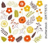 fall flowers | Shutterstock .eps vector #209775571