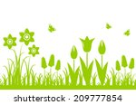 Vector Seamless Spring Flowers...