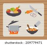 soup  borsch  making process ... | Shutterstock .eps vector #209779471