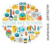 welcome back to school... | Shutterstock .eps vector #209783749